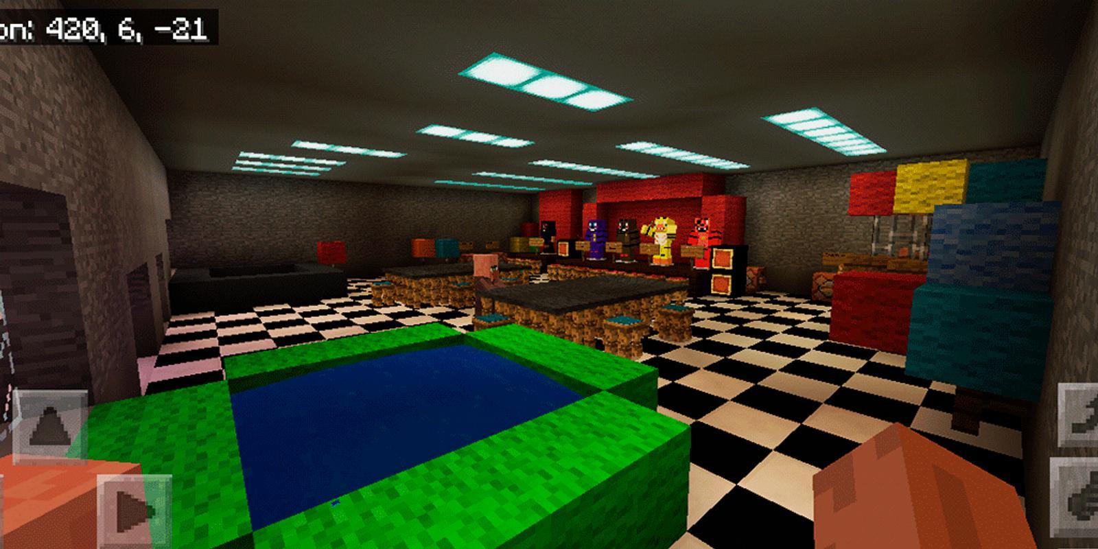 minecraft fnaf pizzeria map download