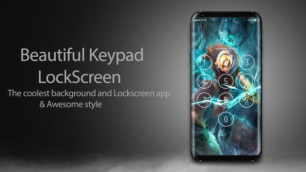 League of Lock Screen Keypad HD screenshot 4