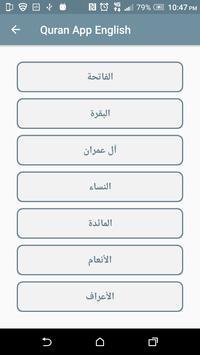 Quran App English screenshot 3