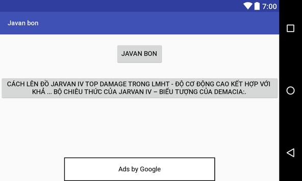Javan bon screenshot 1