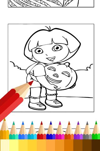 Learn Coloring for dora Fans poster