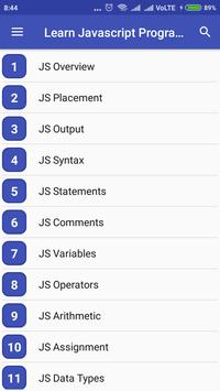 Learn Javascript Programming screenshot 1