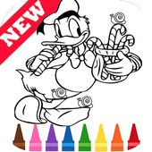 Learn Draw Coloring for Duck Donald by Fans icon
