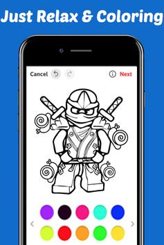 Learn Draw Coloring for NinjaGO by Fans screenshot 1