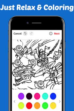 Learn Draw Coloring for NinjaGO by Fans screenshot 2