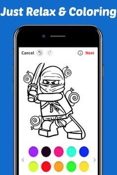 Learn Draw Coloring for NinjaGO by Fans screenshot 3