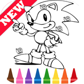 Learn Draw Coloring for Sonic Hedgehog by Fans icon