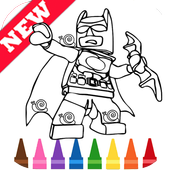 Learn Coloring for Lego Bat Man Heroes by Fans icon