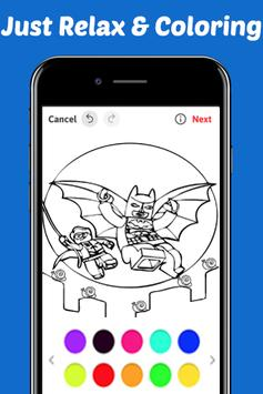 Learn Coloring for Lego Bat Man Heroes by Fans screenshot 1