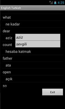Learn English Turkish screenshot 4