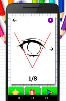 How to draw: anime eyes drawing step by step screenshot 1