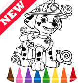Learn Draw Coloring for Paw for Patrol by Fans icon