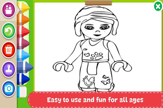 Learn to Coloring for Lego Friends by Fans poster