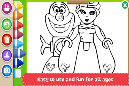 Learn to Coloring for Lego Friends by Fans screenshot 1