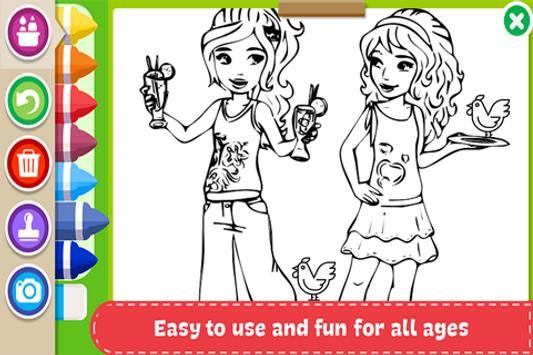 Learn to Coloring for Lego Friends by Fans screenshot 2