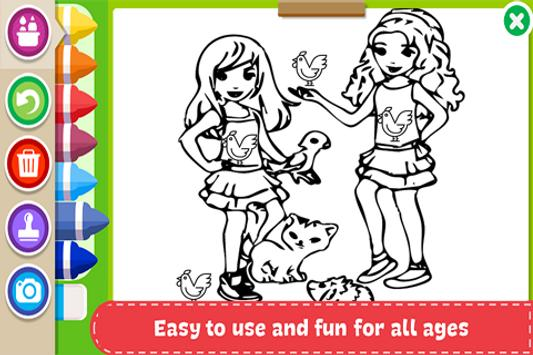 Learn to Coloring for Lego Friends by Fans screenshot 3
