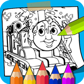 Learn to Coloring for Thomas Train Friends by Fans icon