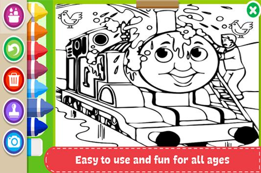Learn to Coloring for Thomas Train Friends by Fans poster