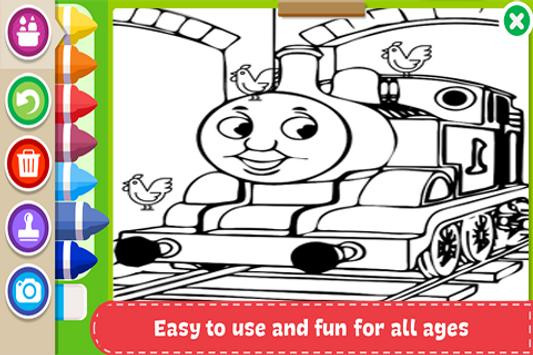 Learn to Coloring for Thomas Train Friends by Fans screenshot 1
