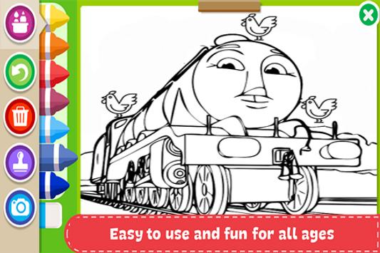 Learn to Coloring for Thomas Train Friends by Fans screenshot 2
