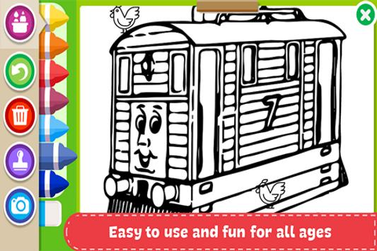 Learn to Coloring for Thomas Train Friends by Fans screenshot 3