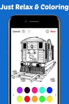 Learn Coloring for Thomas Train Friends by Fans screenshot 3