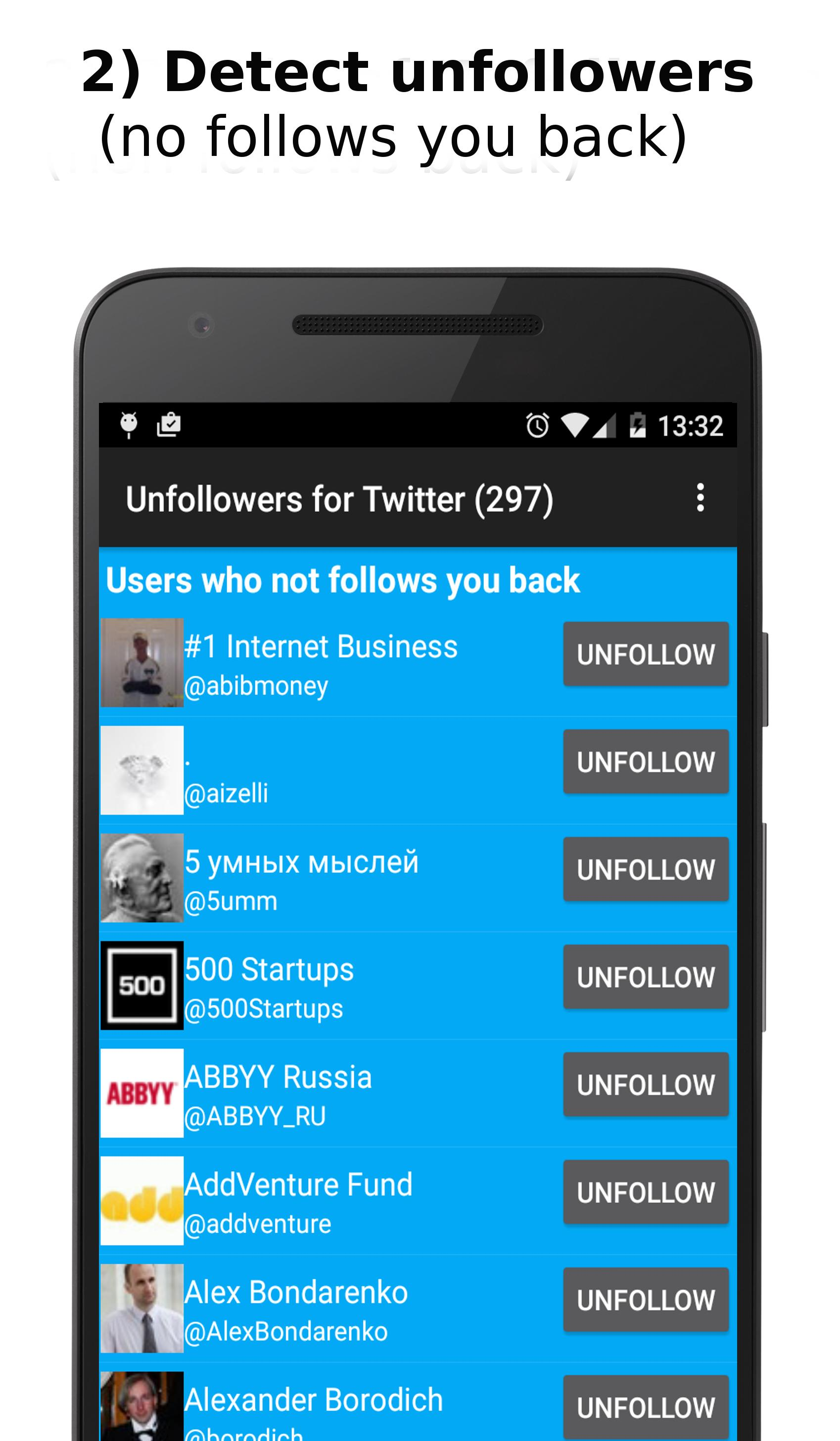 Unfollowers for Twitter for Android - APK Download