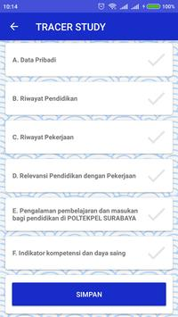 Tracer Study Poltekpel Surabaya screenshot 1