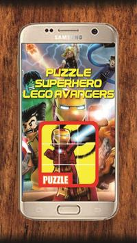 Puzzle Lego Avangers poster