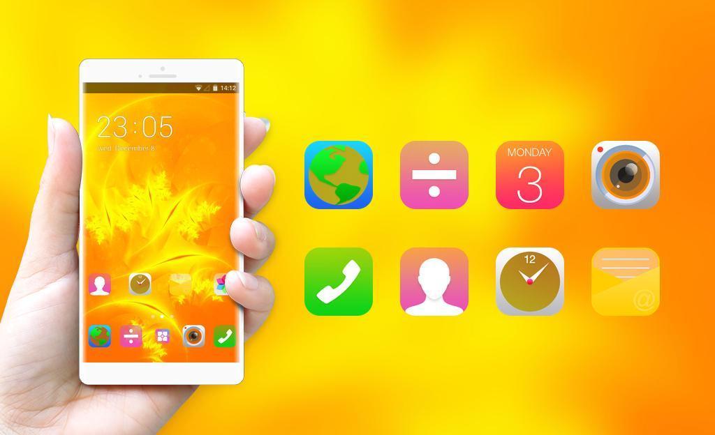 Theme for Lenovo A1000 Orange Wallpaper for Android - APK