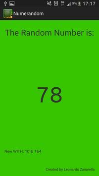 Numeri Random screenshot 2