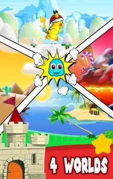 run Pikachu adventure game poster