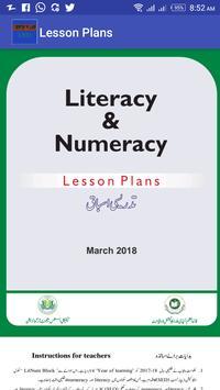 Lesson Plans poster
