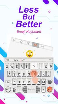 Less But Better Theme&Emoji Keyboard apk screenshot