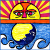Tide Now CA, California Tides, Sun and Moon Times 图标