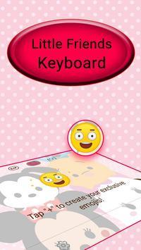 Cute Little Friends Keyboard Theme screenshot 3