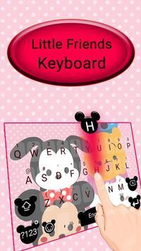 Cute Little Friends Keyboard Theme poster