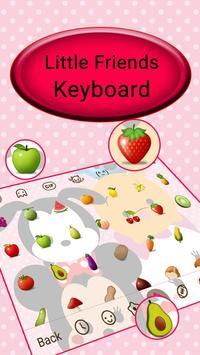 Cute Little Friends Keyboard Theme screenshot 2