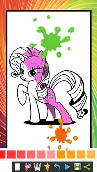 coloring book for little pony coloring kids apk screenshot