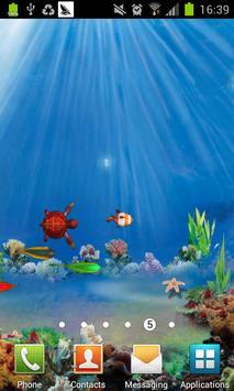 3D Ocean fish live wallpaper poster
