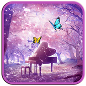 Sakura and Butterfly LWP icon