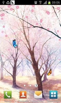 Sakura and Butterfly LWP apk screenshot