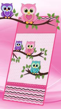 Причудливые Owl Live Wallpaper постер