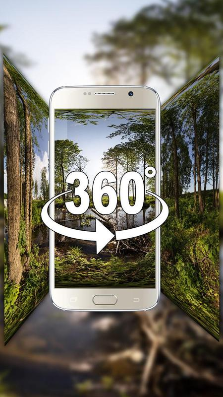 VR Panoramic Forest Oxygen Bar Live Wallpaper Apk Screenshot
