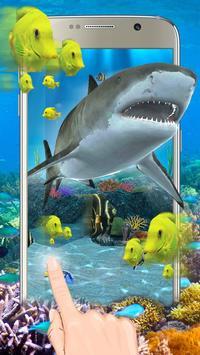 3D鲨鱼海洋主题(摇晃手机获得更多效果) 海報