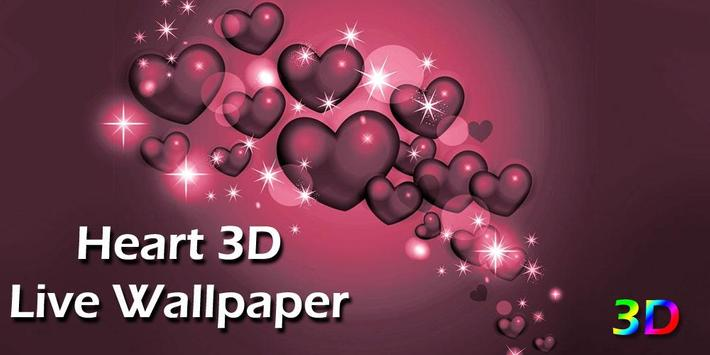 Heart 3D Live WallPaper poster