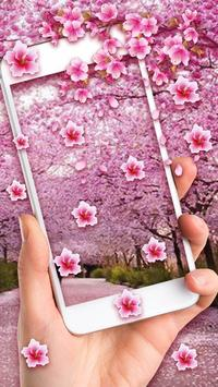 1 Schermata Romantic Sakura Live Wallpaper