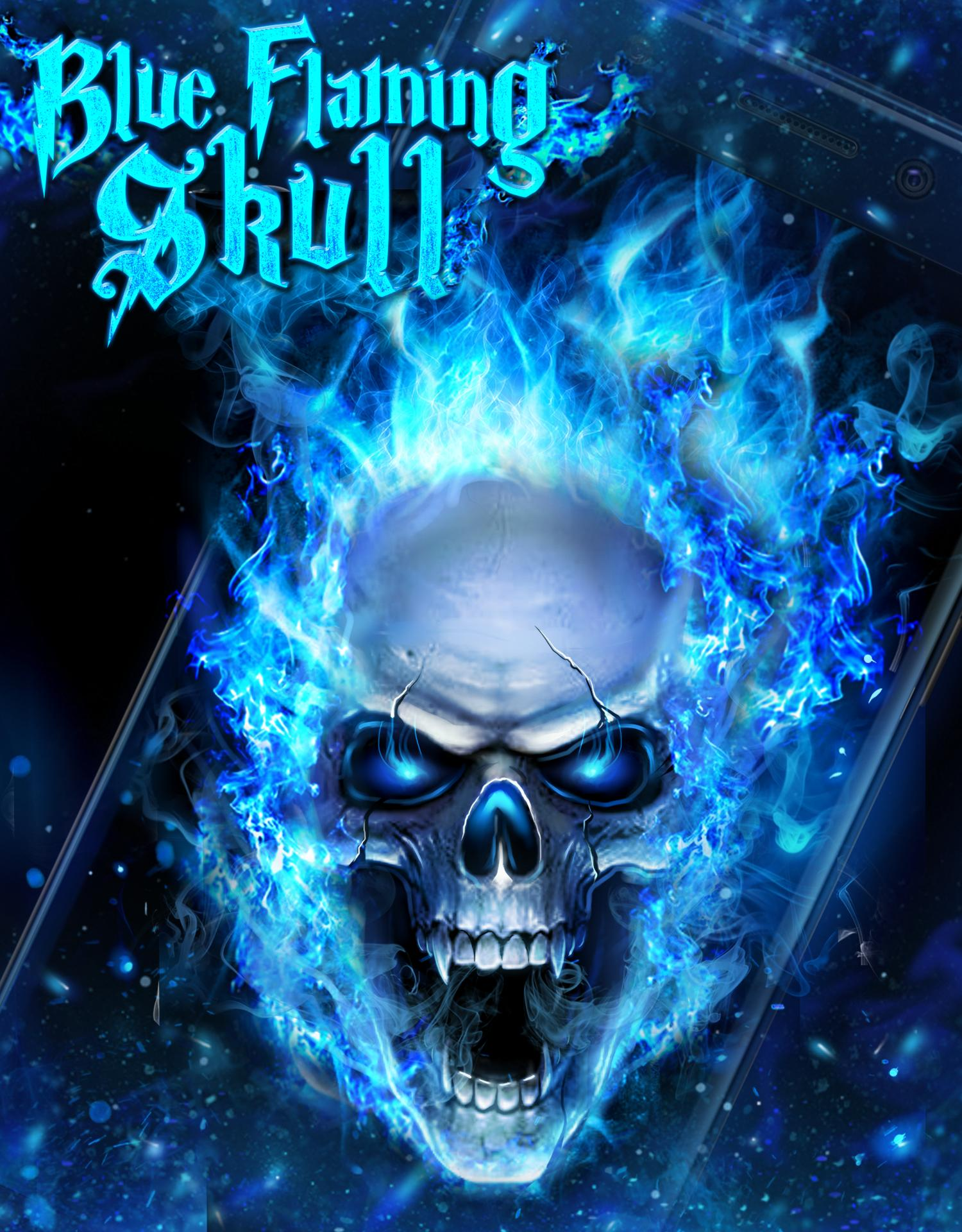 Blue Fire Skull Live Wallpaper For Android Apk Download