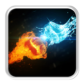 Fire and Ice Lava Live Wallpaper icon