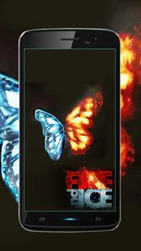 Fire and Ice Lava Live Wallpaper poster